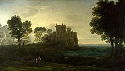 Пейзаж с Психеей у дворца Амура