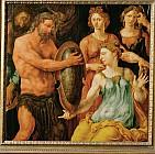 Гефест вручает Фетиде<br>щит для Ахилла
