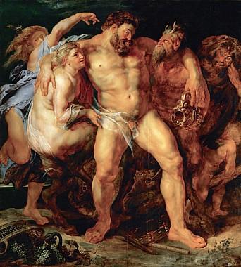 Пьяный Геркулес с нимфой и сатиром