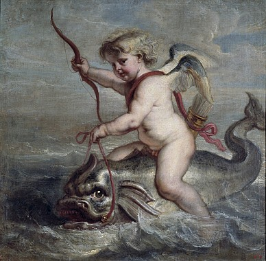 Купидон на дельфине