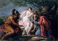 Тесей и Пирифой, бросающие жребий на женитьбу на Елене