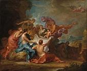 Аллегория<br>воспитания ребенка-Юпитера<br>идийскими нимфами
