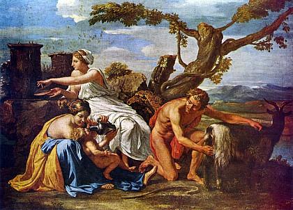 Юпитер, кормимый козой Амалтеей